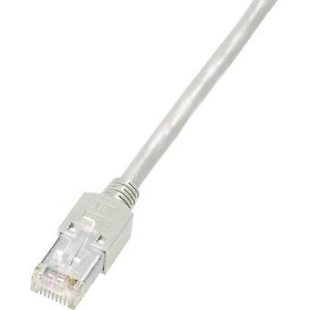 Dätwyler RJ45 K8701.3 Network cable, patch cable CAT 5e S/UTP 3.00 m Grey Flame-retardant, incl. detent