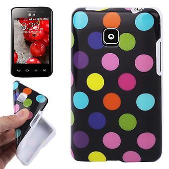 Protection points TPU cas d'affaire pour mobile LG Optimus L3 II / E430