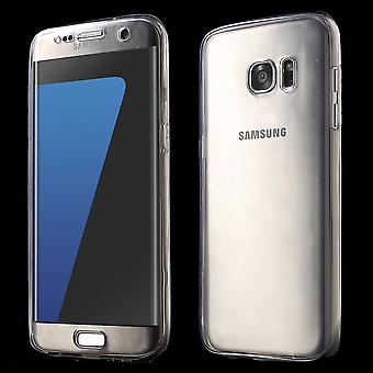 Gevaldekking van het kristal voor Samsung Galaxy S7 grijs frame volledige body