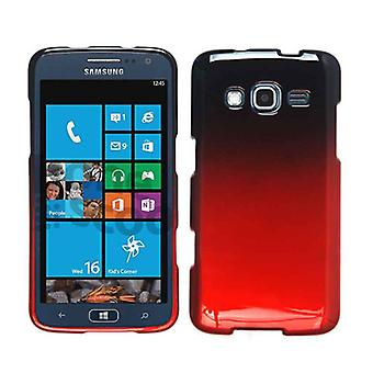 Unlimited Cellular Snap-On Protector Case for SAMI800/Ativ S Neo - Two Tones. Black / Red