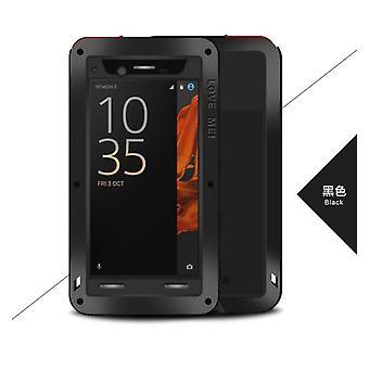 Love Mei powerful hybrid shockproof case Sony Xperia XZ, screen protector- Black