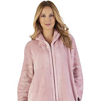 Slenderella HC2345 naisten Luxury Fleece takki oloasut Kylpyamme Aamutakki