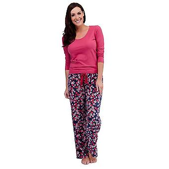 Ladies Tom Franks Floral Print Winter Long Pyjama pajama Sleepwear