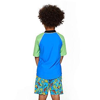 Zoggs うさんくさい半袖 UPF 50 + 太陽トップ ブルー