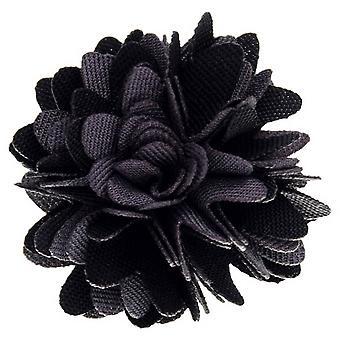 David Van Hagen stof bloem revers Pin - zwart/grijs