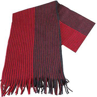 Bassin ja ruskea Botham raidallinen huivi - punainen/harmaa