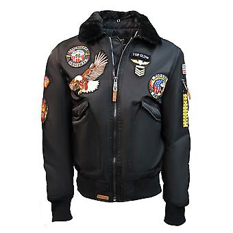 Top Gun MA-1 American Original Bomber Jacket With Patches