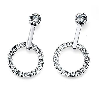 Oliver Weber Post Earring Outround Rhodium Crystal