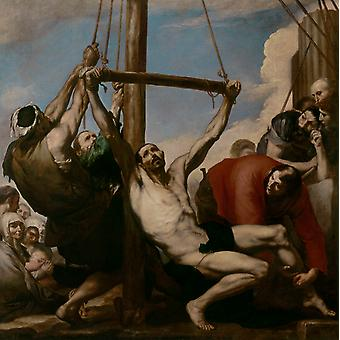 استشهاد القديس بارثولوميو,جوسبي دي ريبيرا, 50x50cm