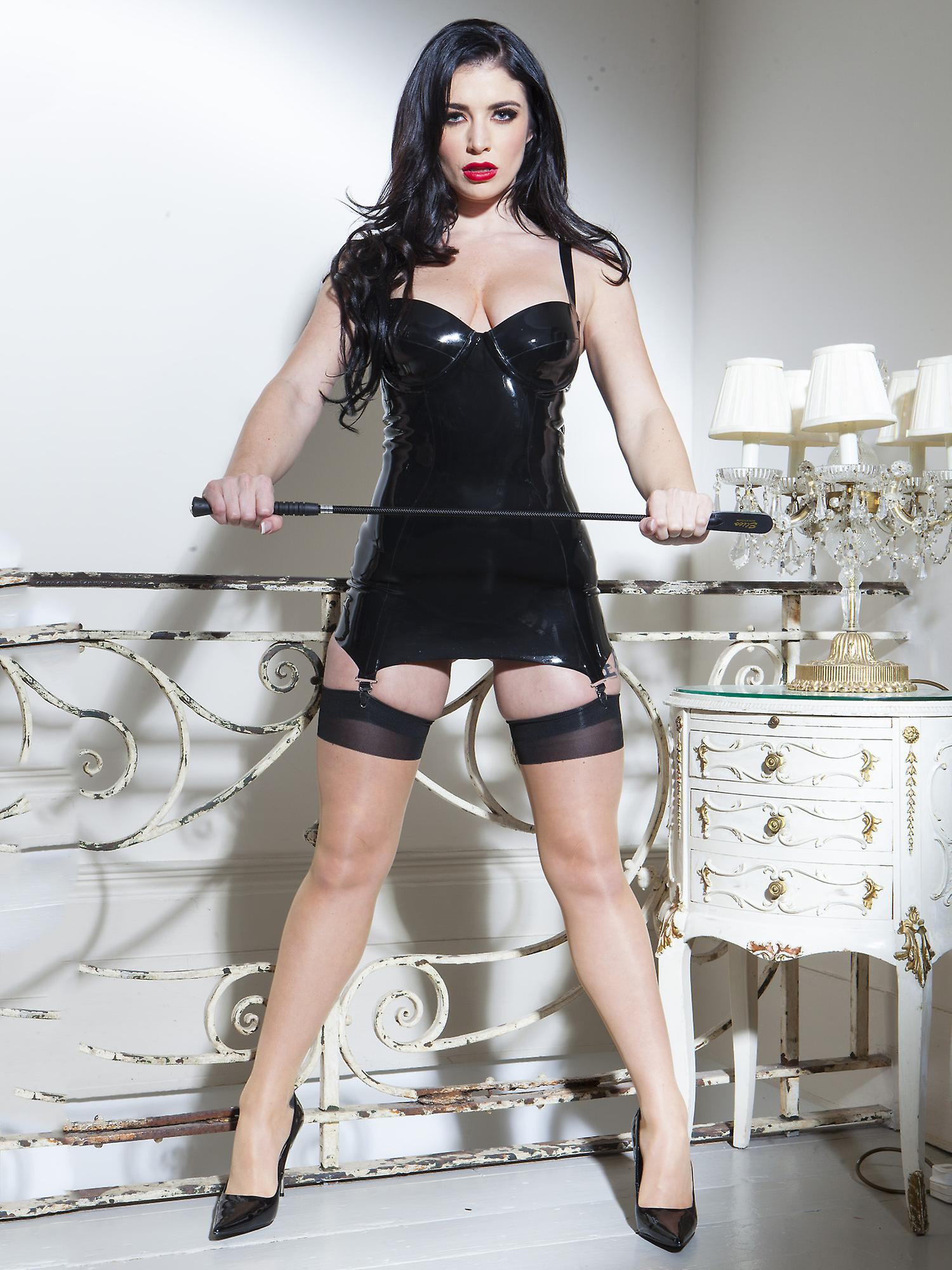 Honour Women's Slip On Dress in Sexy Rubber Provocative Suspender Outfit