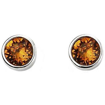 Beginnings November Swarovski Birthstone Earrings - Silver/Orange