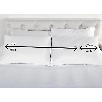 Your Side My Side Pillows Couples Pillow Cases