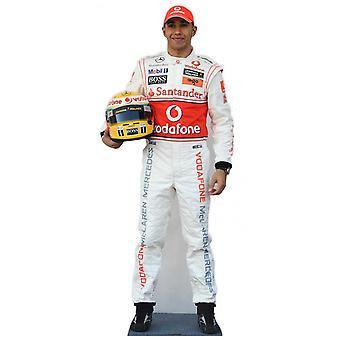 Lewis Hamilton Formula 1 (F1) recorte de cartón de tamaño natural / pie