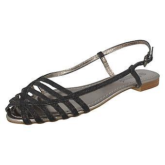 Mesdames Savannah paillettes plates sandales