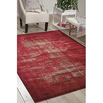 Karma Nourison KRM01 tapis rouge Rectangle tapis Plain/presque ordinaire