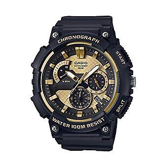 CASIO Armbanduhr Chronograph Quarz Männer mit schwarzem Kunstharz Gurt MCW-200 h-9AVEF