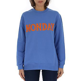 Alberta Ferretti 17011676j0297 Dames's Blue Cotton Sweatshirt