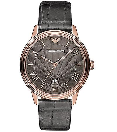 Emporio Armani Ar1717 Mens Grey Croco Leather Watch