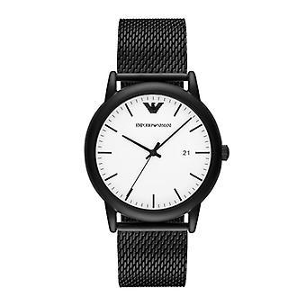 Emporio Armani Ar11046 Black Minimalist Steel Men's Watch