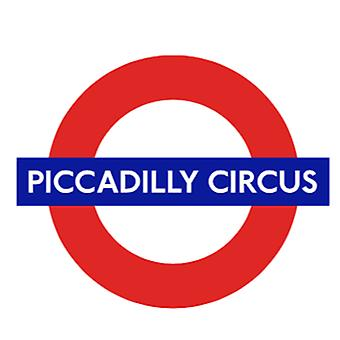 TfL™ 5108 Licensed Piccadilly Circus Roundel™ vinylsticker