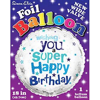 Simon Elvin 18 Inch Super Happy Birthday Foil Balloon