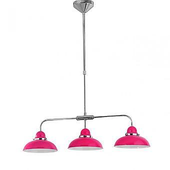 Premier hem hängande ljus, krom, rostfrittstål, rosa