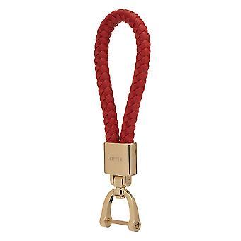 Skipper riipus avaimen perä nahka/Nylon kulta/punainen 8054