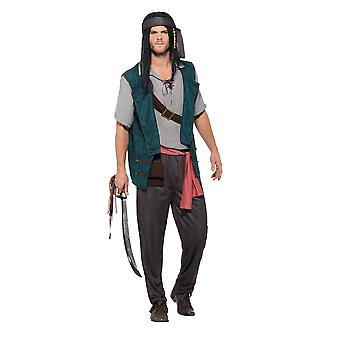 Pirate Deckhand Costume,Pirate Fancy Dress, Medium