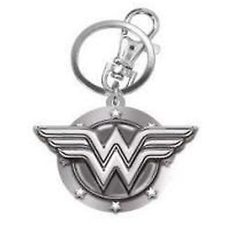 Metal Key Chain - DC Comic - Wonder Woman Logo Pewter New 45084