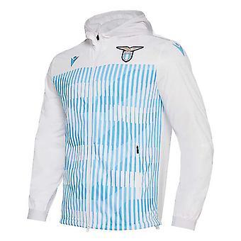 2019-2020 Lazio Macron Full Zip Anthem Jacket (White)