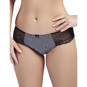 Nessa Women's Moly Black Geometric Print Knickers Panty Brief