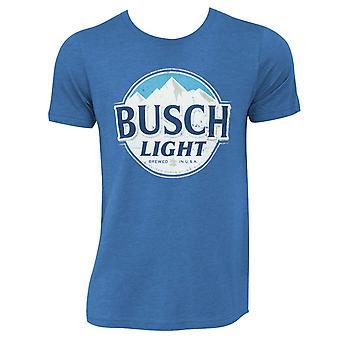 Busch Light Heather Blue Round Logo Tee Shirt