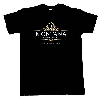 Montana Management Scarface Film Inspirerad, Mens T-Shirt - 80-talet Gift Honom Pappa