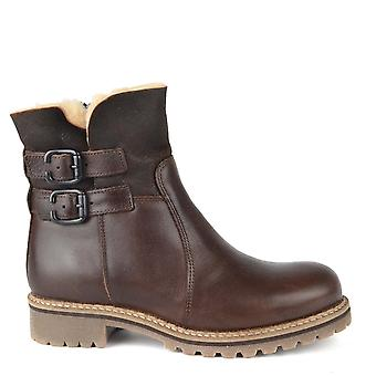Shepherd of Sweden Smilla Brown Leather Sheepskin Lined Boot