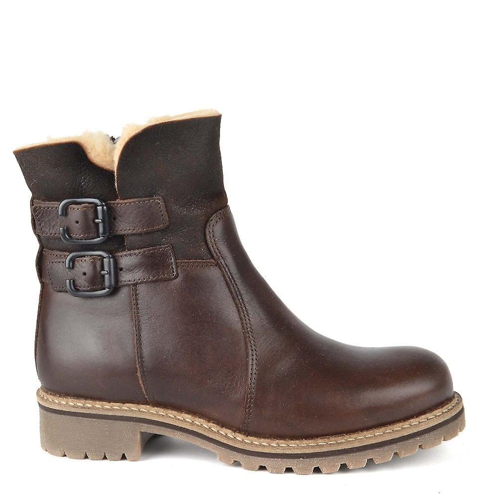 Shepherd of Sweden Smilla Brown Leather Sheepskin Lined Boot y1KLb