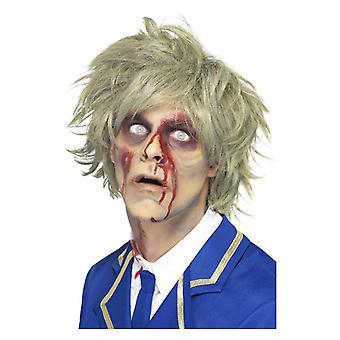 Pánske šedá zombie parochňa Halloween efektné šaty príslušenstvo