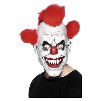 Mens Clown 3/4 Mask  Fancy Dress Accessory