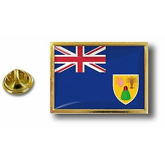 pine pine pin badge pin-apos;s metal with butterfly tweezers flag turks and caicos