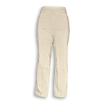 Susan Graver Women's Pants Ultra Stretch Pull-On Beige A288148 PTC