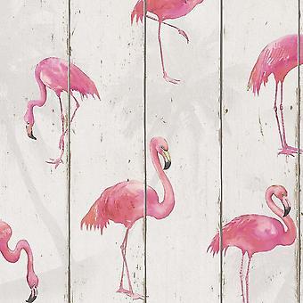 Barbara Becker Flamingo Wallpaper Natural White 479720