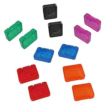 Pro tough plastic storage case holder covers for sd sdhc & micro sd memory cards - 12pk multi colour