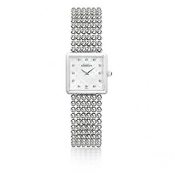 Michel Herbelin 17493-B59 Ladies Perle Bracelet Square Wristwatch