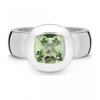 Quinn - Srebrny pierścień z prasiolitem, Sur_Rounded - 021003635