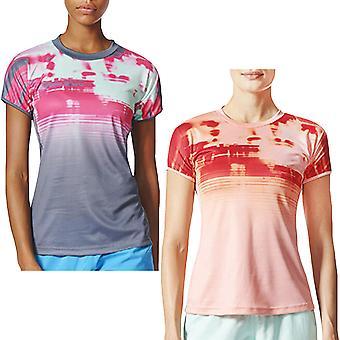 Adidas Производительность женщины сорвать короткий рукав бадминтон Спорт футболка Ти Top