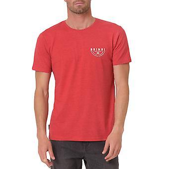 アニマルメンズスコンナロゴグラフィックカジュアルクルーネック半袖Tシャツ - レッドマール