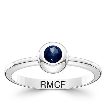 Real Madrid FC Sapphire Ring In Sterling Silver Design by BIXLER