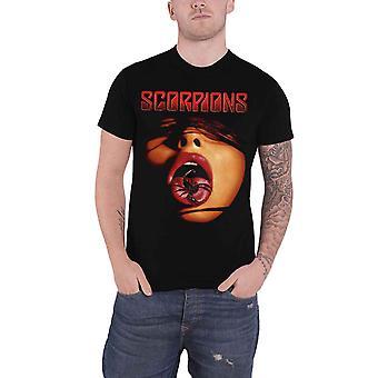 Scorpions T Shirt Scorpion Tongue Band Logo new Official Mens Black