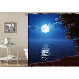 Moon Light Ocean View Shower Curtain