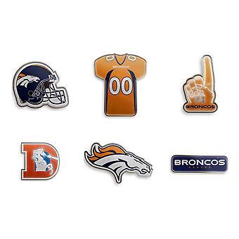 Denver Broncos NFL Pin Badge Pin Set of 6