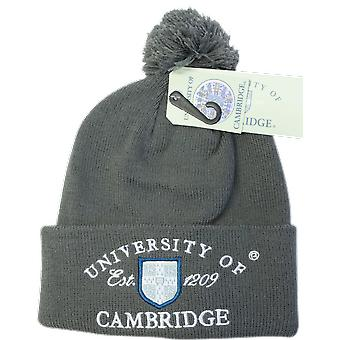 Licensed cambridge university™ pom pom beanie ski hat charcoal colour